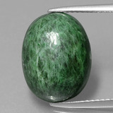 thumb image of 11.1ct Oval Cabochon Green Maw-Sit-Sit (ID: 406687)