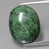 thumb image of 13.8ct Oval Cabochon Green Maw-Sit-Sit (ID: 406688)