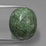 thumb image of 14.5ct Oval Cabochon Green Maw-Sit-Sit (ID: 406816)