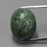 thumb image of 15.8ct Oval Cabochon Green Maw-Sit-Sit (ID: 406823)