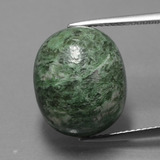 thumb image of 17.2ct Oval Cabochon Green Maw-Sit-Sit (ID: 406825)