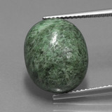 thumb image of 13.7ct Oval Cabochon Green Maw-Sit-Sit (ID: 406872)