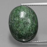 thumb image of 9.7ct Oval Cabochon Green Maw-Sit-Sit (ID: 406886)
