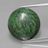 thumb image of 8ct Round Cabochon Green Maw-Sit-Sit (ID: 406933)
