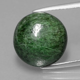 thumb image of 9.6ct Round Cabochon Green Maw-Sit-Sit (ID: 406937)