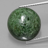 thumb image of 9.3ct Round Cabochon Green Maw-Sit-Sit (ID: 406939)