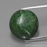 thumb image of 12ct Round Cabochon Green Maw-Sit-Sit (ID: 406990)