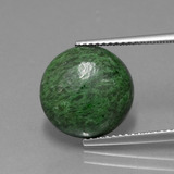 thumb image of 6.7ct Round Cabochon Green Maw-Sit-Sit (ID: 406994)