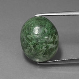 thumb image of 14.4ct Oval Cabochon Green Maw-Sit-Sit (ID: 407440)