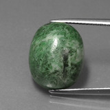 thumb image of 16.7ct Oval Cabochon Green Maw-Sit-Sit (ID: 407441)