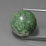 thumb image of 15ct Round Cabochon Green Maw-Sit-Sit (ID: 407443)