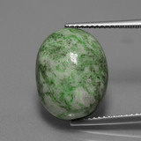 thumb image of 13.9ct Oval Cabochon Green Maw-Sit-Sit (ID: 407546)