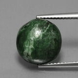 thumb image of 7.4ct Round Cabochon Green Maw-Sit-Sit (ID: 407585)