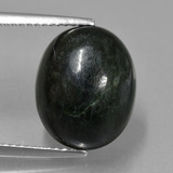 thumb image of 8.3ct Oval Cabochon Green Maw-Sit-Sit (ID: 407666)