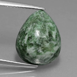 thumb image of 6.9ct Pear Cabochon Green Maw-Sit-Sit (ID: 407869)