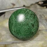 thumb image of 32.7ct Cabochon rotondo Verde scuro Maw-Sit-Sit (ID: 476799)