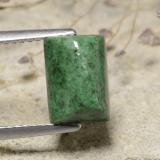 thumb image of 3.5ct Baguette Sugarloaf Cabochon Green Maw-Sit-Sit (ID: 477810)