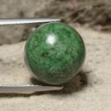 thumb image of 13.3ct Round Cabochon Green Maw-Sit-Sit (ID: 477819)