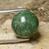 thumb image of 10ct Round Cabochon Pale Pine Green Maw-Sit-Sit (ID: 477933)