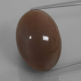 thumb image of 41.6ct Oval Cabochon Mocha Moonstone (ID: 401026)