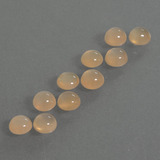 thumb image of 2.4ct Round Cabochon Peach Orange Moonstone (ID: 410103)