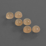 thumb image of 2.2ct Round Cabochon Peach Orange Moonstone (ID: 410254)