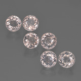 thumb image of 2.4ct Round Facet Light Pink Morganite (ID: 450833)