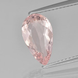 thumb image of 1.5ct Pear Facet Light Coral Pink Morganite (ID: 457614)