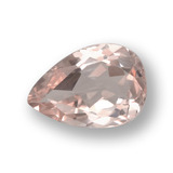 thumb image of 0.8ct Pear Facet Light Pink Morganite (ID: 458010)