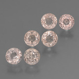 thumb image of 3.3ct Round Facet Light Pink Morganite (ID: 460941)