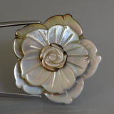 thumb image of 44.5ct Carved Flower Silver Mother of Pearl (ID: 407528)
