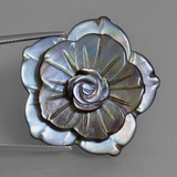 thumb image of 43.5ct Carved Flower Silver Mother of Pearl (ID: 407688)