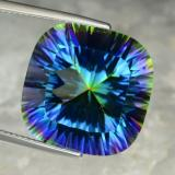 thumb image of 22.5ct Cushion Concave Cut Top Rainbow Mystic Quartz (ID: 469244)