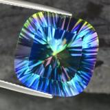 thumb image of 21.9ct Cushion Concave Cut Top Rainbow Mystic Quartz (ID: 469245)