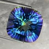 thumb image of 22.8ct Cushion Concave Cut Top Rainbow Mystic Quartz (ID: 469247)