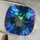 thumb image of 22.7ct Cushion Concave Cut Top Rainbow Mystic Quartz (ID: 469248)