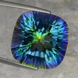 thumb image of 23.4ct Cushion Concave Cut Top Rainbow Mystic Quartz (ID: 469249)