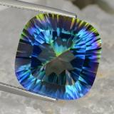 thumb image of 22.2ct Cushion Concave Cut Top Rainbow Mystic Quartz (ID: 469250)