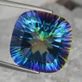 thumb image of 23.1ct Cushion Concave Cut Top Rainbow Mystic Quartz (ID: 469251)