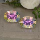 thumb image of 5.1ct Oval Concave Cut Multicolor Mystic Quartz (ID: 482616)