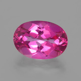 thumb image of 6.9ct Oval Facet Purplish Pink Mystic Topaz (ID: 402696)