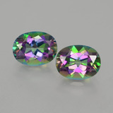 thumb image of 4.5ct Oval Facet Rainbow Mystic Topaz (ID: 402946)
