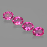 thumb image of 8ct Oval Facet Purplish Pink Mystic Topaz (ID: 404972)