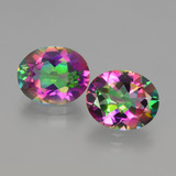thumb image of 7.6ct Oval Facet Rainbow Mystic Topaz (ID: 405812)