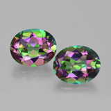 thumb image of 8.2ct Oval Facet Rainbow Mystic Topaz (ID: 405904)