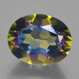 thumb image of 3.4ct Oval Facet Multicolor Mystic Topaz (ID: 456878)