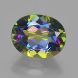 thumb image of 3.4ct Oval Facet Multicolor Mystic Topaz (ID: 456908)