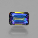 thumb image of 0.7ct Octagon Step Cut Multicolor Mystic Topaz (ID: 456912)