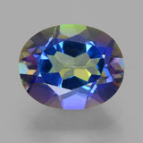 thumb image of 3.4ct Oval Facet Multicolor Mystic Topaz (ID: 456929)