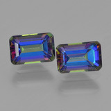 thumb image of 1.4ct Octagon Step Cut Multicolor Mystic Topaz (ID: 457343)